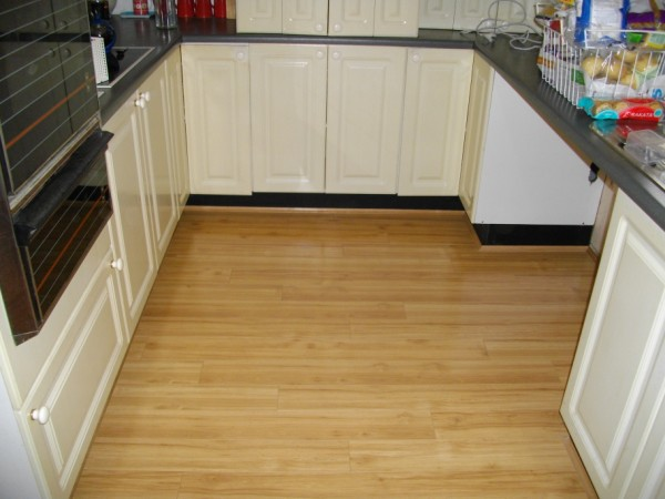 floating floor kitchen - wood floors